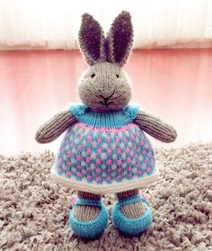 Came to show off, fresh in my new dress!*********************************** #yarn #yarnlove #bunny #knittedbunny #knittinglove #knit #knitters #knitting #knittersofinstagram #knittersoftheworld #instaknit #lovetoknit #knitstagram #knittersofig #igknitters #dollclothes #knittedrabbits #knittedtoys #bunniesofinstagram #knitdolls #colorwork #handknit #handmade #handmadewithlove #rabbitsofinstagram #bunniesoftheworld #knitdoll#littlecottonrabbits#örgü#tığişi
