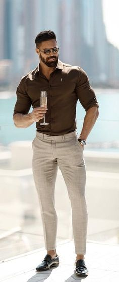 30 Men's Style Trends You Should Undoubtedly Try In 2019 - style - . 30 Men's Style Trends You Should Undoubtedly Try In 2019 - style - Business Casual Men, Men Casual, Casual Wear, Smart Casual, Mode Outfits, Fashion Outfits, Party Fashion, Fashion Wear, Fashion Styles