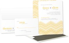 Modern Zig Zag Wedding Invitations