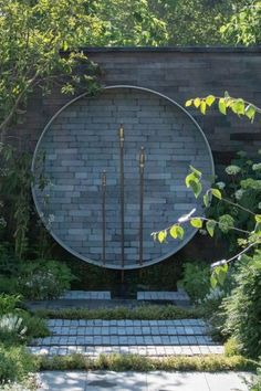 Recycled contemporary water feature #middlesizedgarden