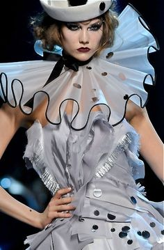 Christian Dior/// ruffles to concur material issue for corset
