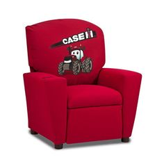 "KidzWorld Case Int'l Harvester Kids ""Big Red"" Tractor Recliner & Reviews 