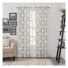 """2 Pack Aldrich Panel Pair Medallion Gray (28""""x95"""") - Pairs To Go"""