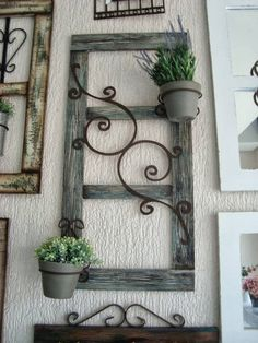 trendy wood home decore diy old windows Wire Crafts, Diy And Crafts, Garden Projects, Wood Projects, Cheap Home Decor, Diy Home Decor, Old Windows, Windows Decor, Antique Windows