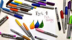"coloring video tutorial"" Sharpie Coloring Secrets: Part 4 - Flick Blending . from Coloring Bliss . Sharpie Crafts, Sharpie Markers, Sharpie Art, Alcohol Markers, Copic Markers, Zentangle, Colour Wheel Theory, Sharpie Colors, Colouring Techniques"