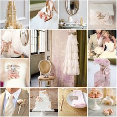 I now believe I may have found my wedding colors (: gold & blush