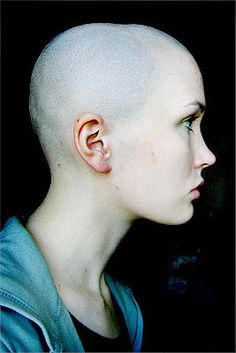 Image result for bald woman profile