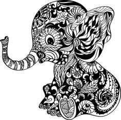 Ready To Press Transfer - Baby Elephant Mandala Svg Elephant Coloring Page, Animal Coloring Pages, Coloring Books, Elephant Colouring Pictures, Elephant Art, Elephant Tattoos, Zentangle Elephant, Mandala Elephant Tattoo, African Elephant