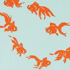 Goldfish on blue handmade gift wrap is designer gift wrap from Midori. This unique blue gift wrap you can use for wrapping present for baby.