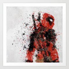Deadpool Art Print by Melissa Smith - $16.00