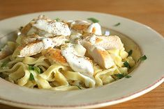 Homemade Fettuccine Alfredo - making your own pasta takes much less time than you might think, and tastes fantastic! Fettuccine Alfredo, Homemade Fettuccine, Chicken Fettuccine, Homemade Alfredo, Chicken Alfredo, Homemade Pasta, Alfredo Sauce, Chicken Pasta, Best Alfredo Recipe