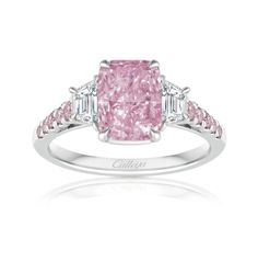 'Ishtar' Goddess of Love and Divine Femininity, features an amazing 2.01ct very rare Fancy Intense Vivid Purplish Pink Diamond, empowering grace, allure and confidence. Her secret? A hidden Australian Argyle Pink Diamond nestled between the underrails of her beautiful bespoke setting.