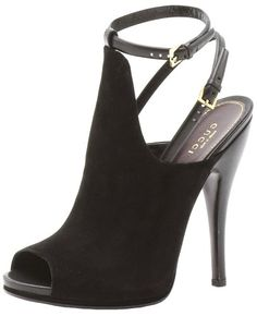$960.00 Gucci Jane Peep Toe High Heel Suede Bootie  From Gucci   Get it here: http://astore.amazon.com/ffiilliipp-20/detail/B009T4VCYQ/187-7825902-3008938
