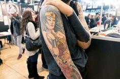 Geisha Wonder Woman :D Geisha, Wonder Woman, Tattoo Inspiration, Tattoos, Tattoo Ideas, Paris, Women, Tatuajes, Montmartre Paris