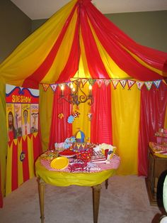 big top (tablecloths)-is it wrong to plan my own birthday party so I can have a circus?