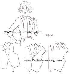 How-to-make-multiple-dart-tucks-at-the-neckline-1.jpg 464×501 pixels