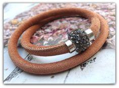 CASA Pari ®   VELOUR Leder Armband ★ ZOE  ★   von CASA Pari® auf DaWanda.com