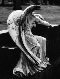 mourning angel statue - Google Search