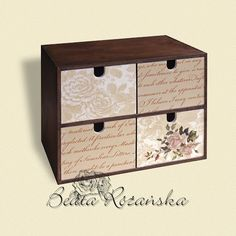 great for craft storage Decoupage Box, Decoupage Vintage, Shabby Vintage, Ikea Storage Boxes, Craft Storage, Painted Boxes, Wooden Boxes, Hobbies And Crafts, Diy And Crafts