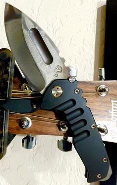 Medford Knife and Tool Praetorian T Frame Lock Folding Knife Blade DLC Black Titanium (3.75 Two-Tone) MKT