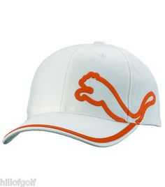 NEW PUMA GOLF RELAXED FIT ADJUSTABLE GOLF HAT WHITE / ORANGE...ONE SIZE FITS ALL on eBay!