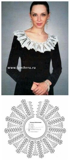 These are parts of the collar Col Crochet, Crochet Lace Collar, Crochet T Shirts, Crochet Diagram, Crochet Blouse, Crochet Poncho, Filet Crochet, Crochet Scarves, Irish Crochet