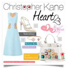 """""""Christopher Kane Love Hearts"""" by wemakefashion ❤ liked on Polyvore featuring Christopher Kane, Valentino, Michael Kors and Fendi"""