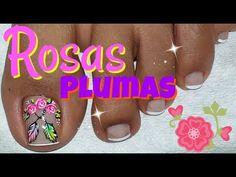 Pedicure Nail Art, Toe Nail Art, Toe Nails, Manicure, Cute Pedicures, Flower Nail Designs, Beautiful Toes, Nail Decorations, Flower Nails