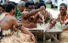 Knocking back kava in Fiji