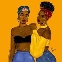 Imagen de drawings, black art, and black girl magic Black Love Art, Black Girl Art, My Black Is Beautiful, Black Girl Magic, Black Girls Rock, Art Girl, African American Art, African Art, Art Et Design