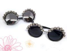 Gafas de sol Steampunk negras o plateadas. por GloriaSanchezArtist