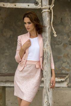 Kleed jasje roze communie feest receptie Marie Méro lente zomer 2015