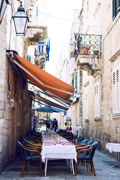 Dubrovnik- we ate at so many places just like this. Love!