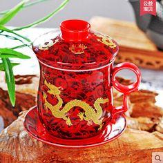 Meilleur Jingdezhen os tasse de porcelaine + soucoupe + couvercle + filtre un ensemble dragon tasse de thé 350 ML os tasses en porcelaine 8.5 * 13.5 cm outils de thé tasse de café dans Services à Café et à Thé de Maison & Jardin sur AliExpress.com | Alibaba Group