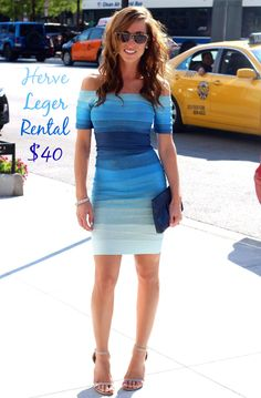 Herve Leger Rent the Runway bandage dress! Only $40 for the weekend! #RentTheRunway