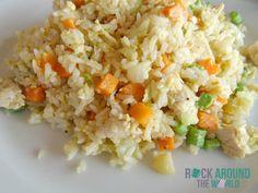 Gebratener Reis mit Gemüse und Hühnchen auf Don Det – Si Phan Don – Laos