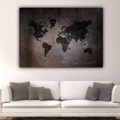 Πίνακας σε καμβά Rusty World map Map, World, Painting, Painting Art, Maps, The World, Paintings, Painted Canvas, Earth