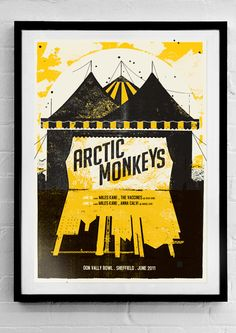 artic monkeys gig posters don valley bowl Tour Posters, Band Posters, Arctic Monkeys, Graphic Design Posters, Graphic Design Illustration, Graphic Designers, Graphic Art, Vintage Music Posters, The Last Shadow Puppets