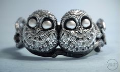 Baby Owls Ring modeled in ZBrush, rendered in KeyShot by Nacho Riesco. Organic Sculpture, Owl Ring, Baby Owls, Zbrush, Sculpting, Wax, Rings For Men, Jewelry Design, Skull