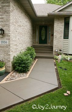 Restain a dried out concrete walkway - 11 Quick and Easy Curb Appeal Ideas That Make a Huge Impact | Hometalk