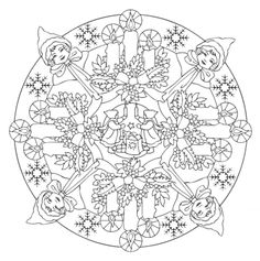 mandala 602 christmas designs 3d coloring book dover publications