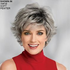 Layered Hair Wigs - Wig Styles with Layers for Women Grey Wig, Short Grey Hair, Short Hair Wigs, Short Hair With Layers, Layered Hair, Gray Hair, Trending Hairstyles, Wig Hairstyles, Synthetic Curly Hair