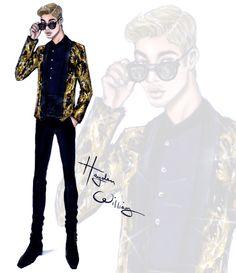 Justin Bieber wearing Balmain HOMME FW15 #MetGala2015