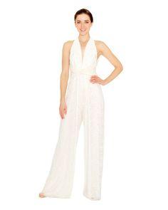 White Lace Jumpsuit   twobirds Bridesmaid Multiway Convertible Jumpsuit   Bridal Jumpsuit