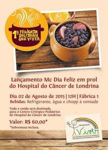 ONG VIVER - CAMPANHA EM PROL AO  CENTRO CIRURGICO INFANTIL  DO HOSPITAL DO CÂNCER DE LONDRINA