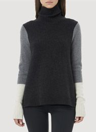 Tri Colorblocked Turtleneck