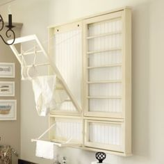 No more shoving my drying rack back between the washer and wall? Yes please.