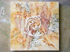Rustic Style canvas Mixed Media Art Home Decor Gift Crackle