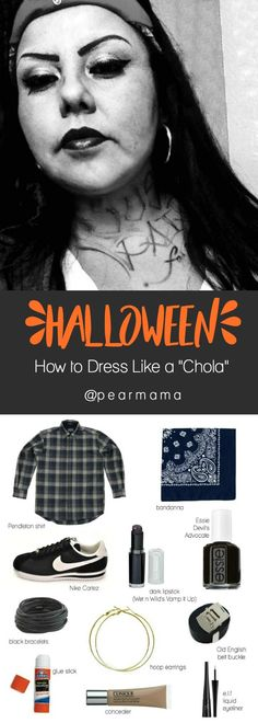 """Inspired by the Southern California cholo culture, here is everything you need to pull off the """"chola"""" look this Halloween."""