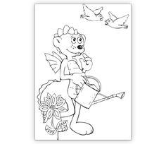 Gärtner Ausmal Klappkarte mit Dinolino - http://www.1agrusskarten.de/shop/gartner-ausmal-klappkarte-mit-dinolino/    00004_0_168, Ausmalen, Blumen, Gratulation zum Mädchen, Grußkarte, interaktiv, Kinder, Klappkarte00004_0_168, Ausmalen, Blumen, Gratulation zum Mädchen, Grußkarte, interaktiv, Kinder, Klappkarte